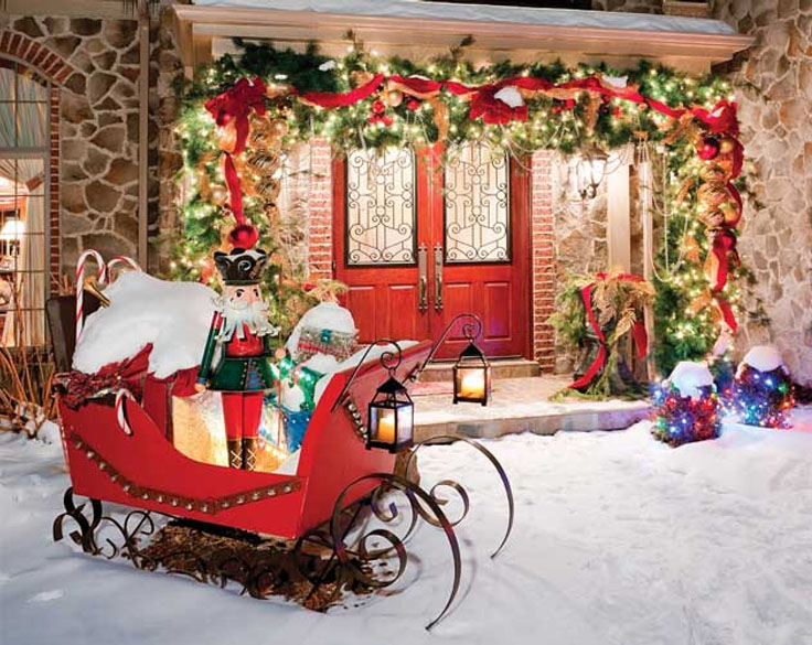 Best Top 10 Inspirational Christmas Front Porch Decorations This Month
