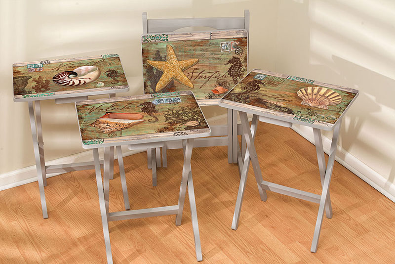 Best Tv Tray W Stand Set Of 4 Poste Nauticus This Month