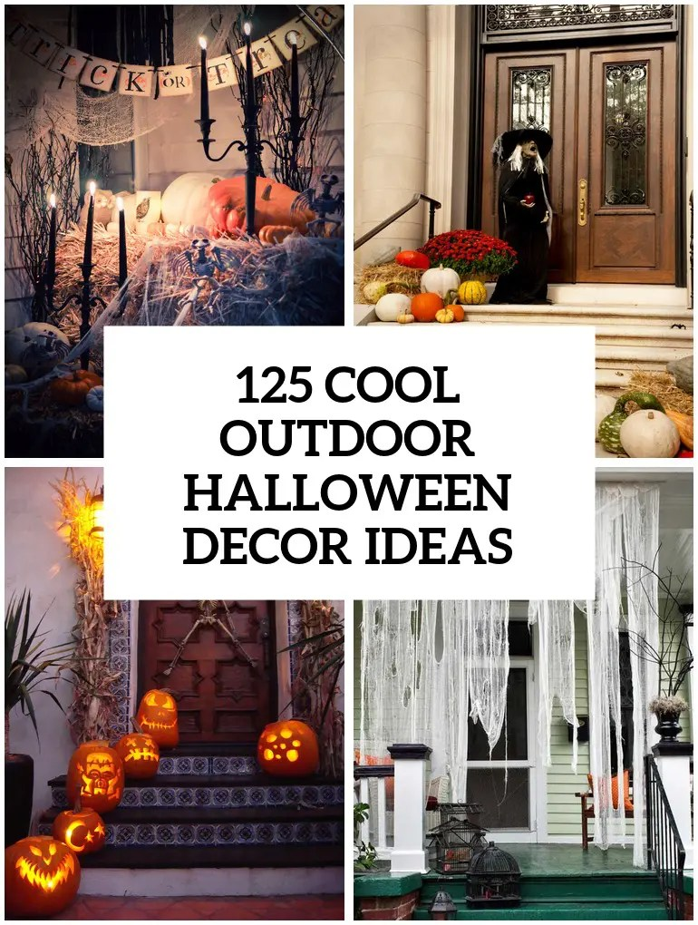 Best 125 Cool Outdoor Halloween Decorating Ideas Digsdigs This Month