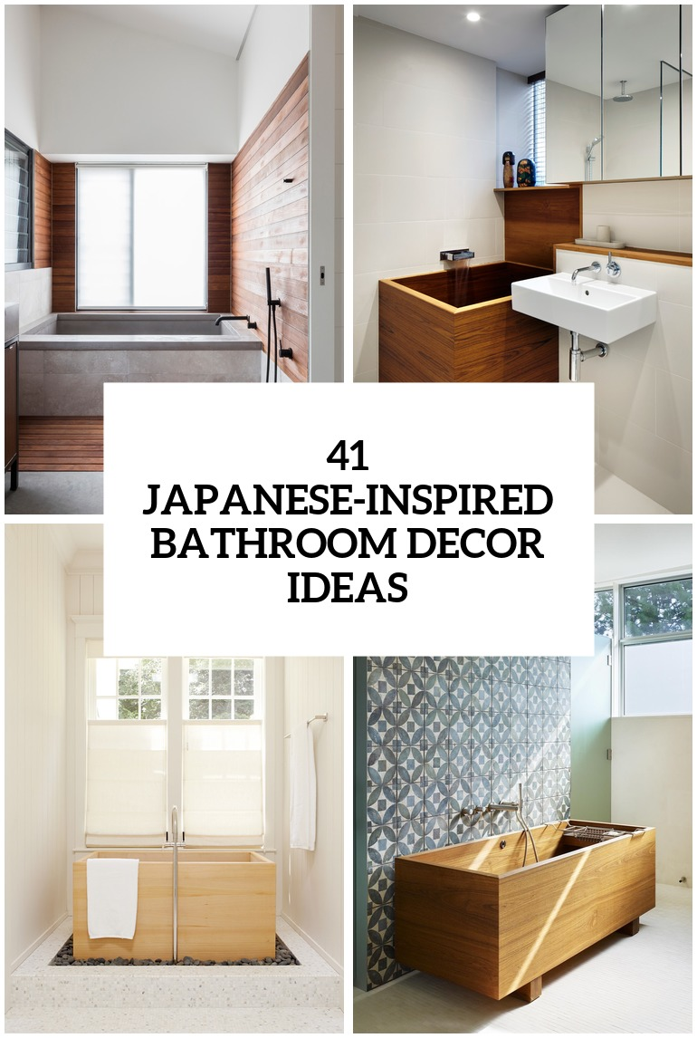 Best 30 Peaceful Japanese Inspired Bathroom Décor Ideas Digsdigs This Month