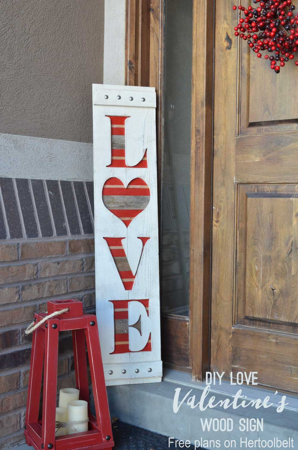 Best Love Valentine S Wood Sign Her Tool Belt This Month