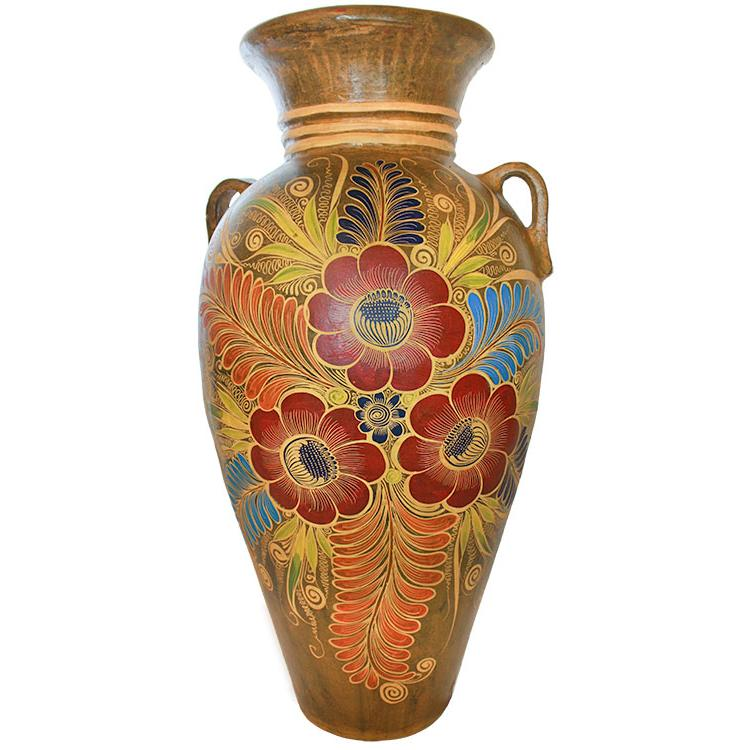 Best Decorative Pottery Four Foot Floor Vase Three Flowers This Month