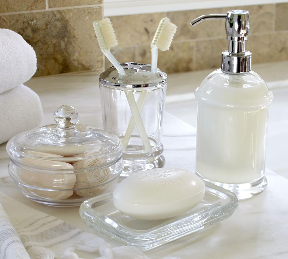 Best Pb Classic Glass Bath Accessories Pottery Barn Au This Month