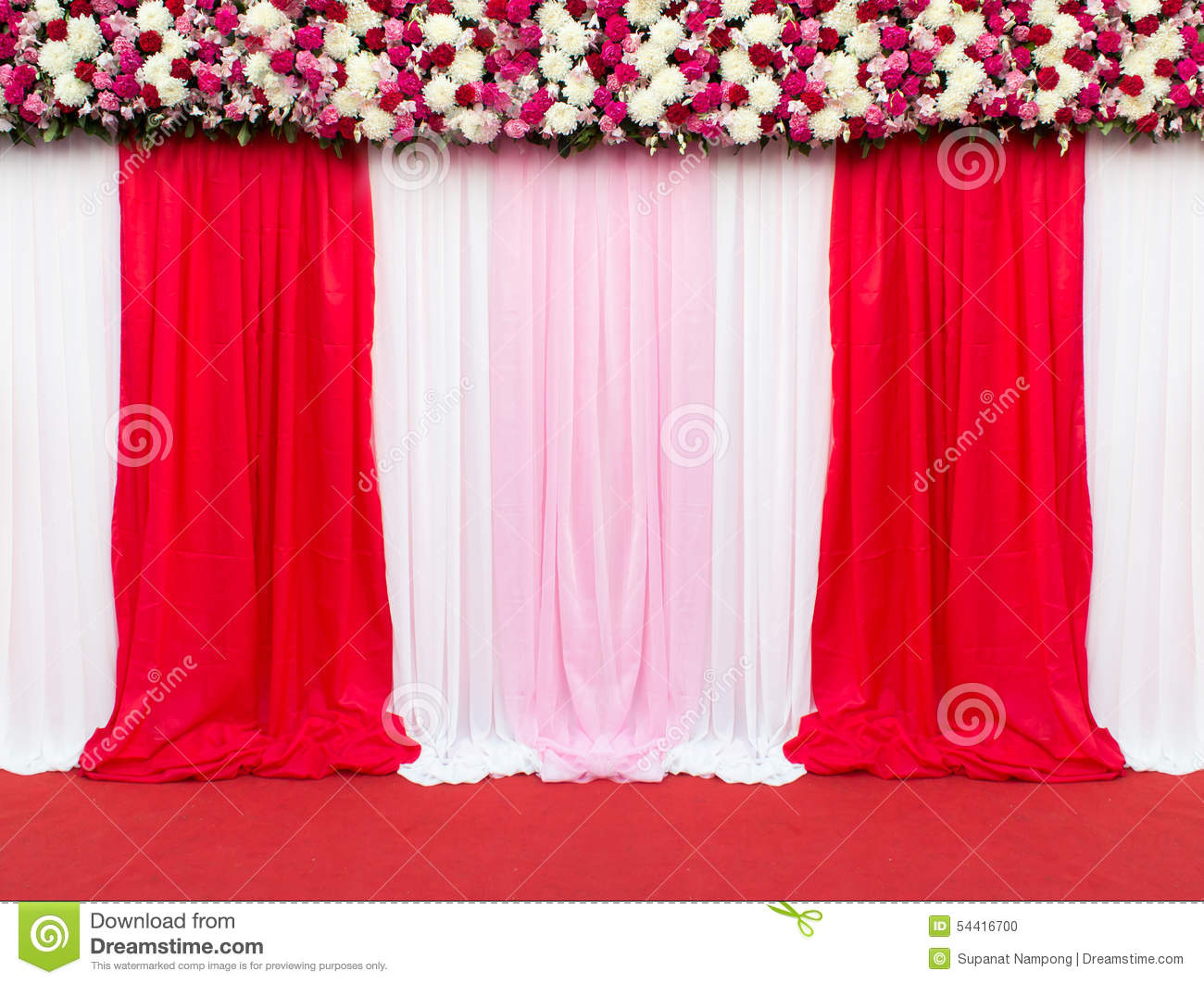 Best Wedding Stage Decoration For Take Picture Stock Photo This Month
