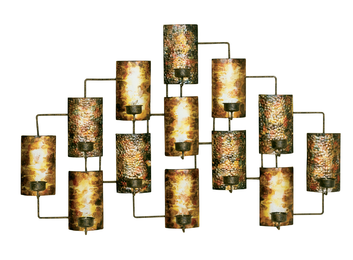 Best Metal Wall Decor In Aged Gold In Metallic Wall Art This Month