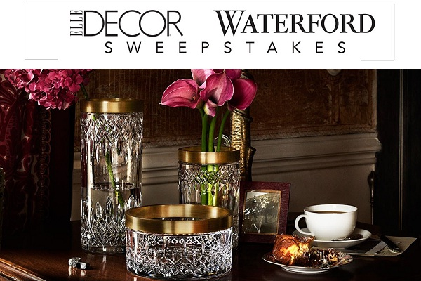 Best Elle Decor Waterford Sweepstakes On Waterford Elledecor This Month