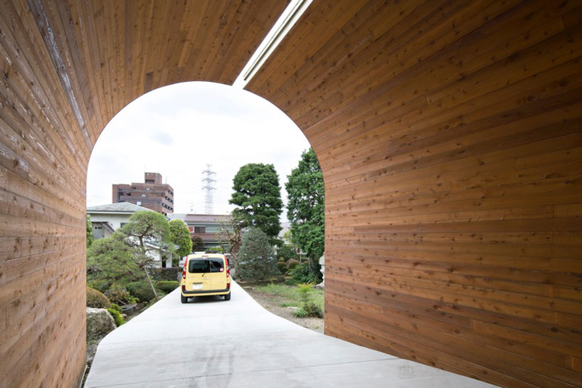 Best Timber Clad Archway Connects Family Homes In Japan By Naf This Month