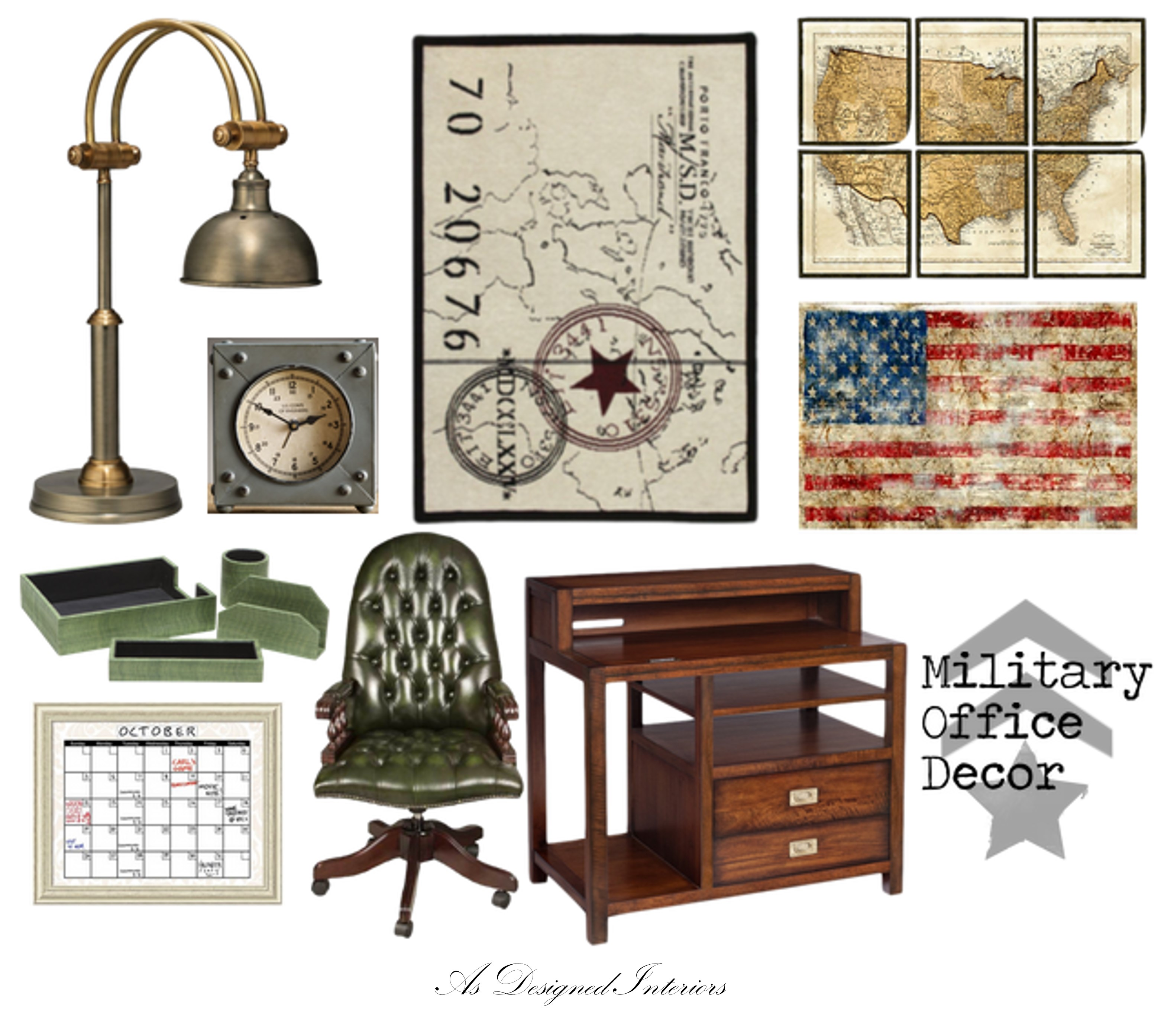 Best Moodboard Monday Military Inspired Office Decor As This Month