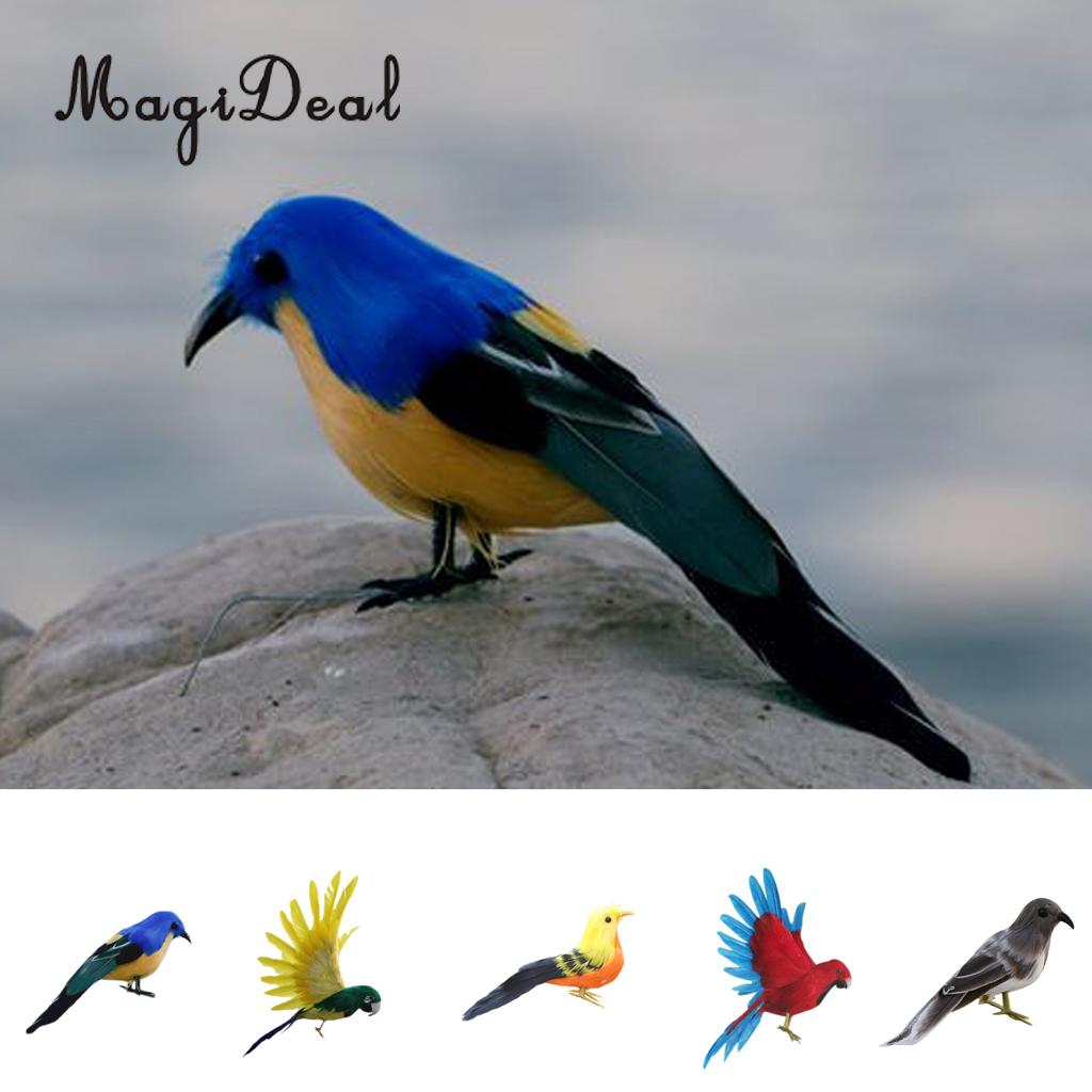 Best Magideal Artificial Bird Feather Realistic Home Garden This Month