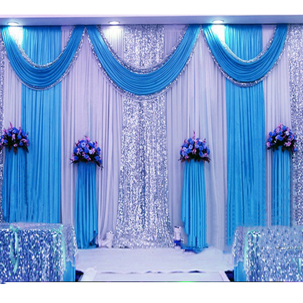Best 3 6M Sequin Wedding Backdrop Curtain With Swag Backdrop This Month
