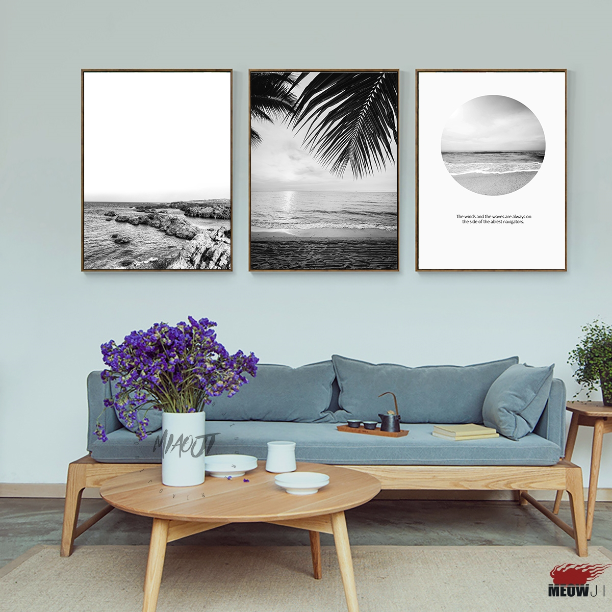 Best Posters Wall Art Printed Canvas Painting For Living Room Nordic Decoration Black And White Beach This Month