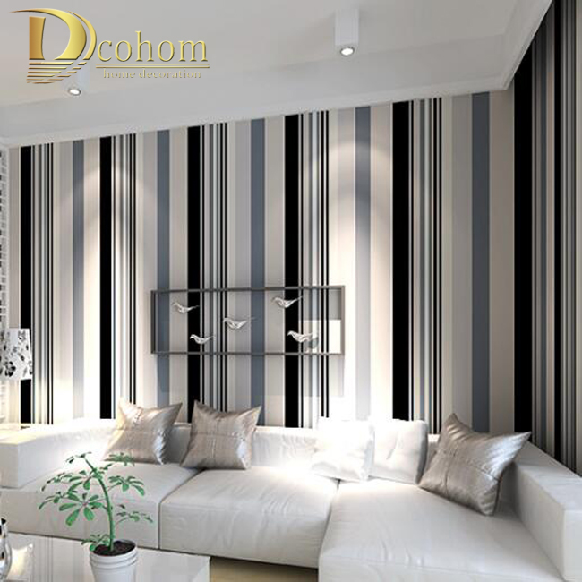 Best Modern Black And White Grey Vertical Stripes Wallpaper Tv This Month