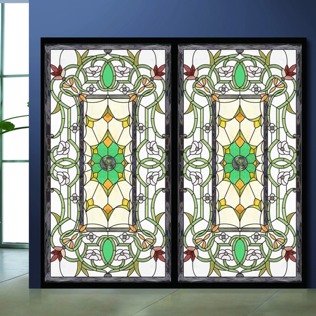 Best Colored Drawing Glass Film Wardrobe Bathroom Sticker This Month