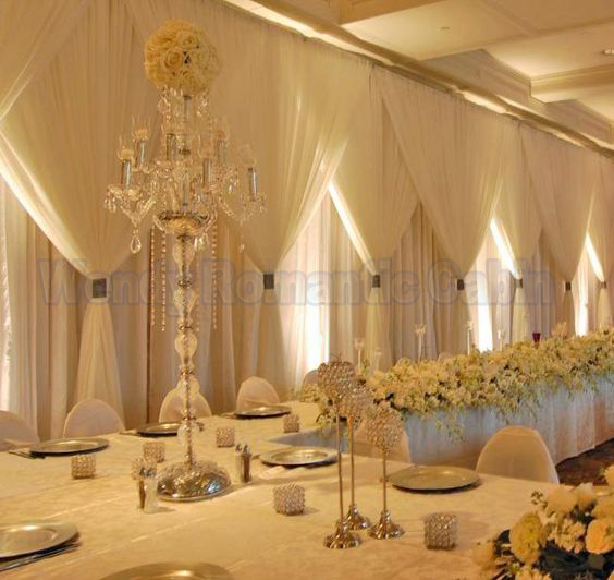 Best 10Ft X 20Ft Three Layers Silk Ivory Wedding Backdrop This Month