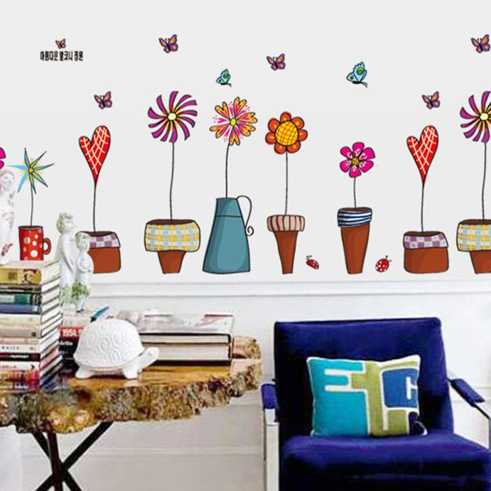 Best Hot Wall Decal Stickers Flowers Insect Butterfly Potted This Month