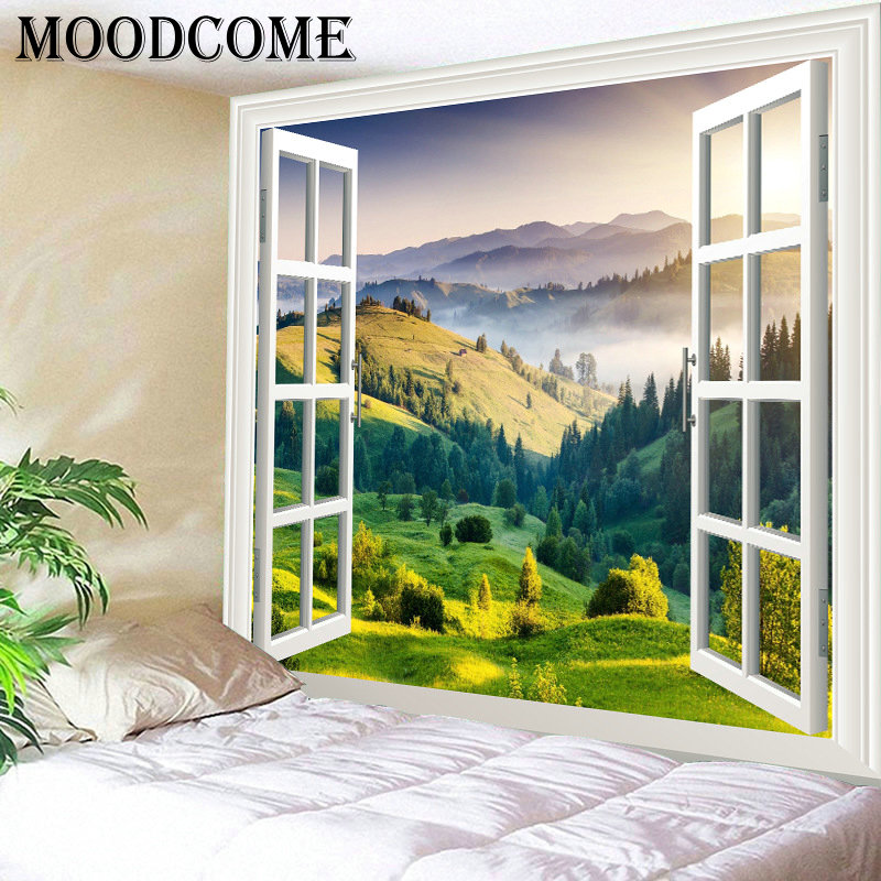 Best Window Printing Landscape Tapestry Wall Blanket Drop This Month