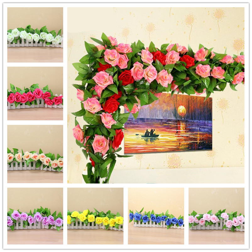 Best Artificial Flowers Rose Silk Flowers Vine Wedding This Month