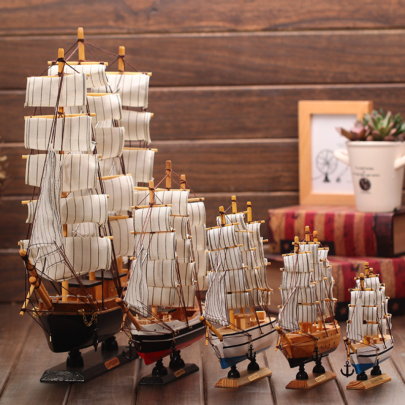 Best Wooden Ship Model Nautical Decor Home Crafts Figurines This Month