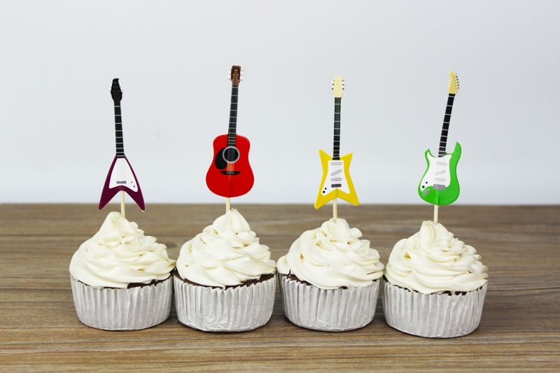 Best Wholesale 720Pcs Guitar Party Supplies Cartoon Cupcake This Month
