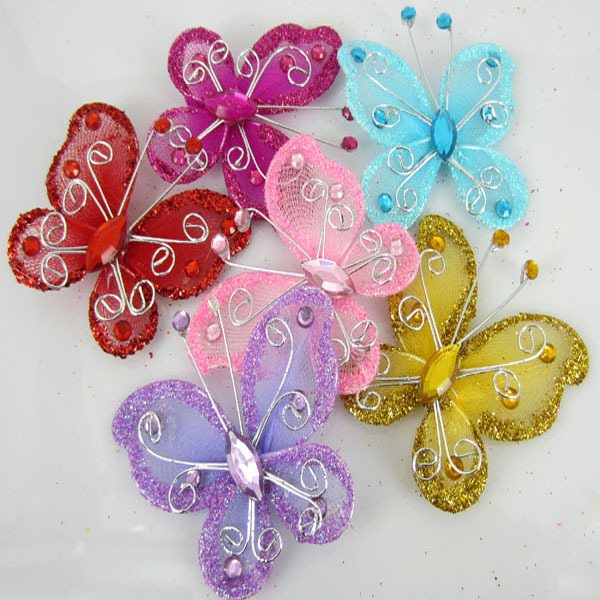Best New 5Cm 50Pcs Mixed Color Organza Wire Rhinestone This Month