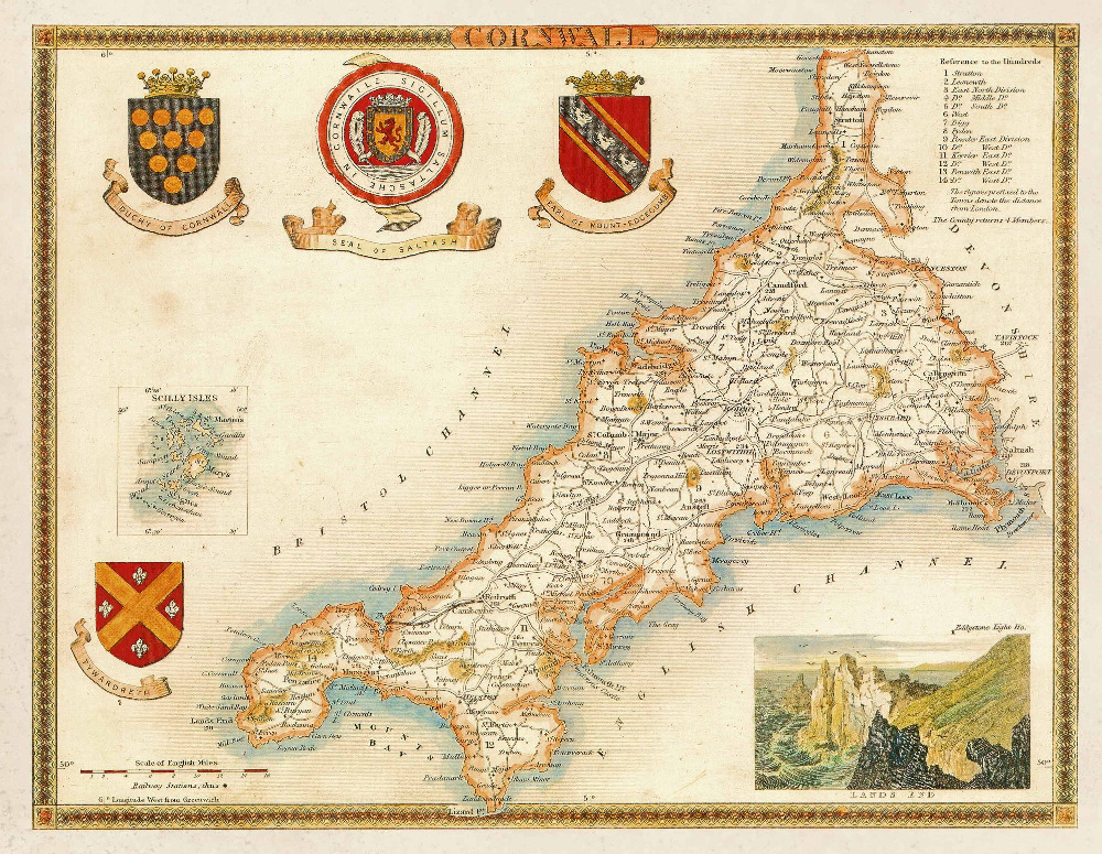 Best Aliexpress Com Buy British Map Of Cornwall In Uk England This Month