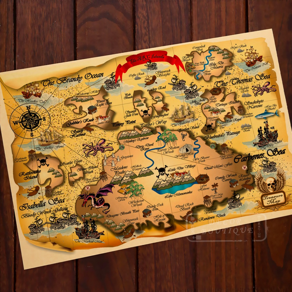 Best Aliexpress Com Buy The Arc Island Adventure Pirate Map This Month