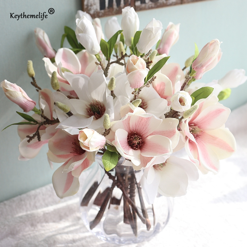 Best Keythemelife 1 Pcs Artificial Flowers Silk Flower Fake This Month
