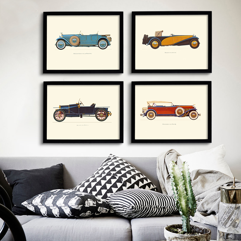 Best New Classic Cars Vintage Canvas Painting Posters Prints This Month