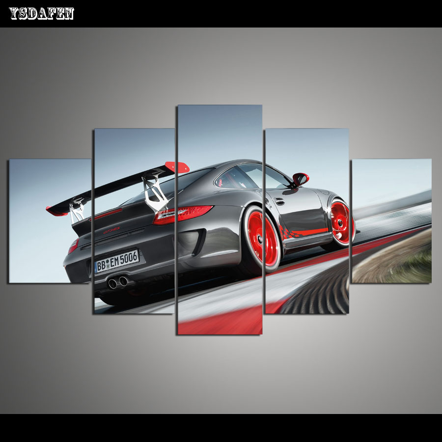 Best Drop Shipping Hd 5 Panel Printed Painting Canvas Art Car This Month