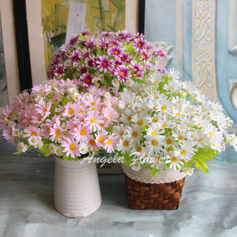 Best Spring Colorful Silk Daisy Artificial Flower For Wedding This Month