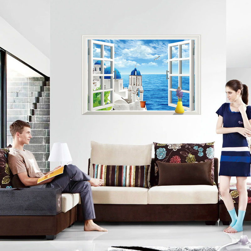Best Creative Home Decor 3D Wall Stickers Fake Window Style This Month