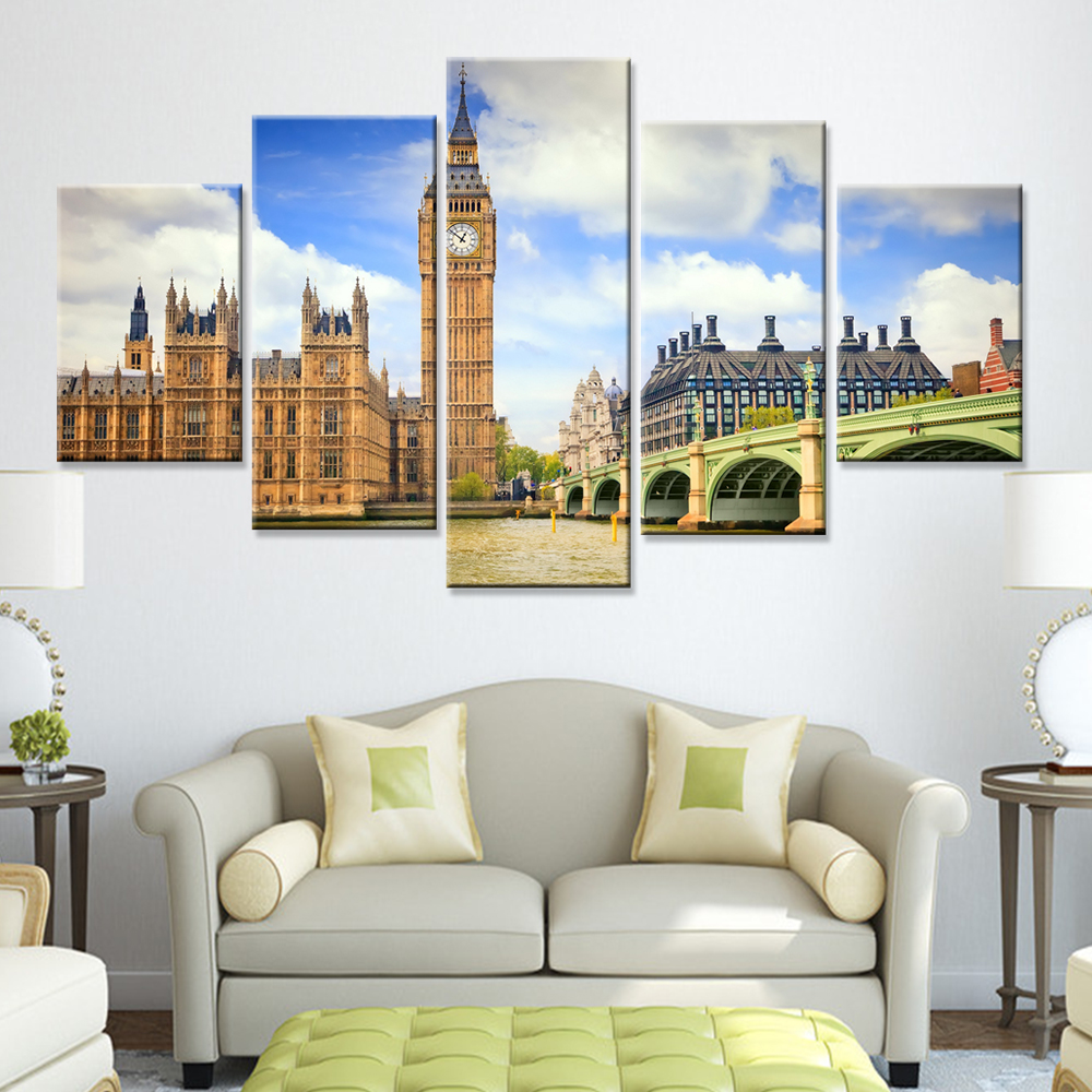 Best Drop Ship Modern London City 5 Pieces Wall Painting Canvas This Month