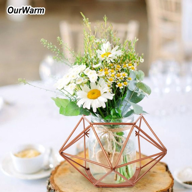 Best Ourwarm Geometric Vase For Wedding Table Decoration This Month