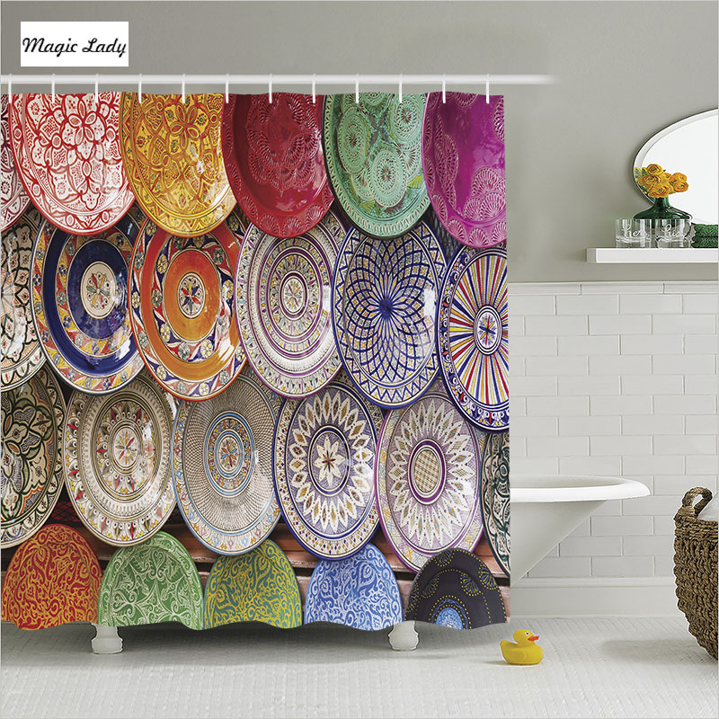 Best Shower Curtain Textile Bathroom Accessories Moroccan This Month