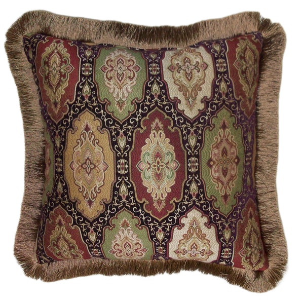 Best Shop Ruche Brush Fringe Decorative 20 Inch Throw Pillow This Month