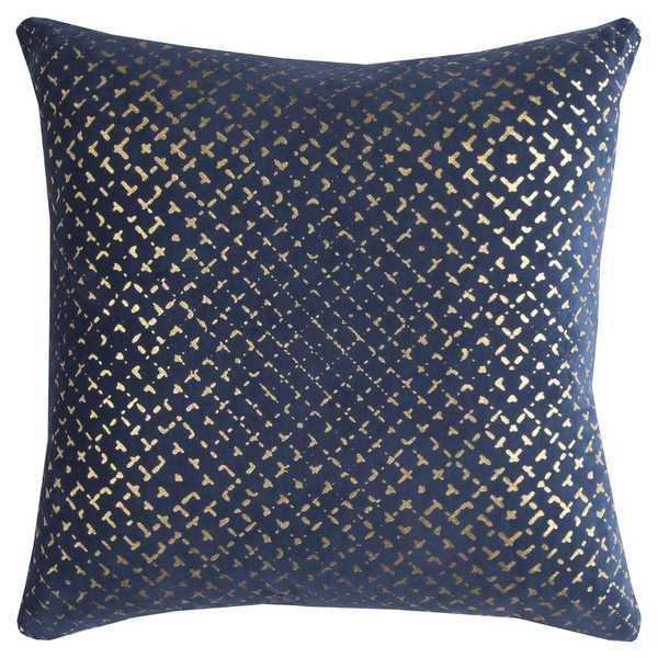 Best Shop Rizzy Home Geometric Navy Cotton 20 Inch Square Throw This Month