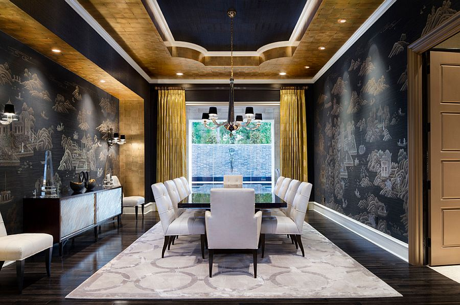 Best 15 Refined Decorating Ideas In Glittering Black And Gold This Month