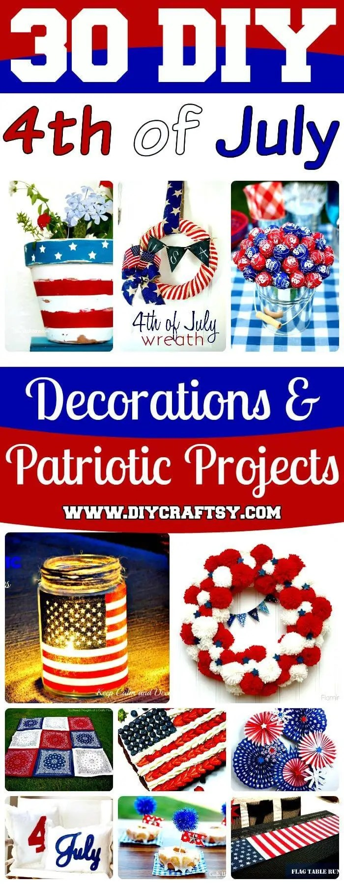 Best 30 Diy 4Th Of July Decorations Patriotic Diy Fourth Of This Month