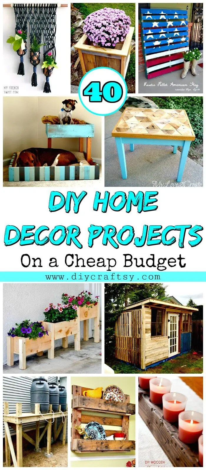 Best 40 Diy Home Decor Projects On A Cheap Budget Diy Crafts This Month