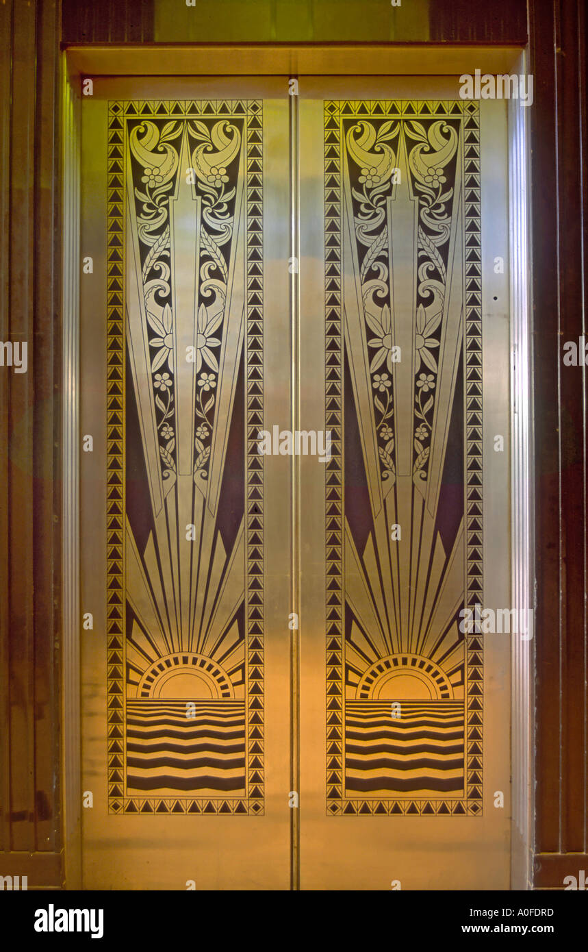 Best Art Deco Elevator Door Lobby At Historic Lone Star Gas This Month