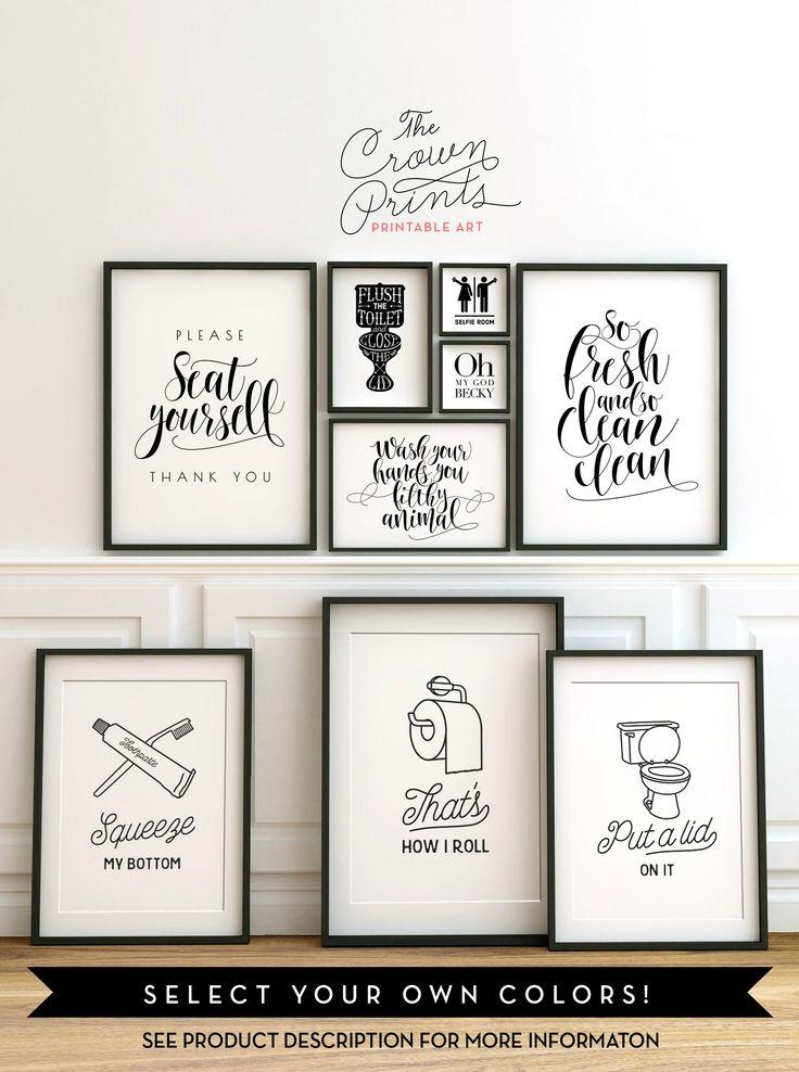 Best 20 Photos Black And White Bathroom Wall Art Wall Art Ideas This Month