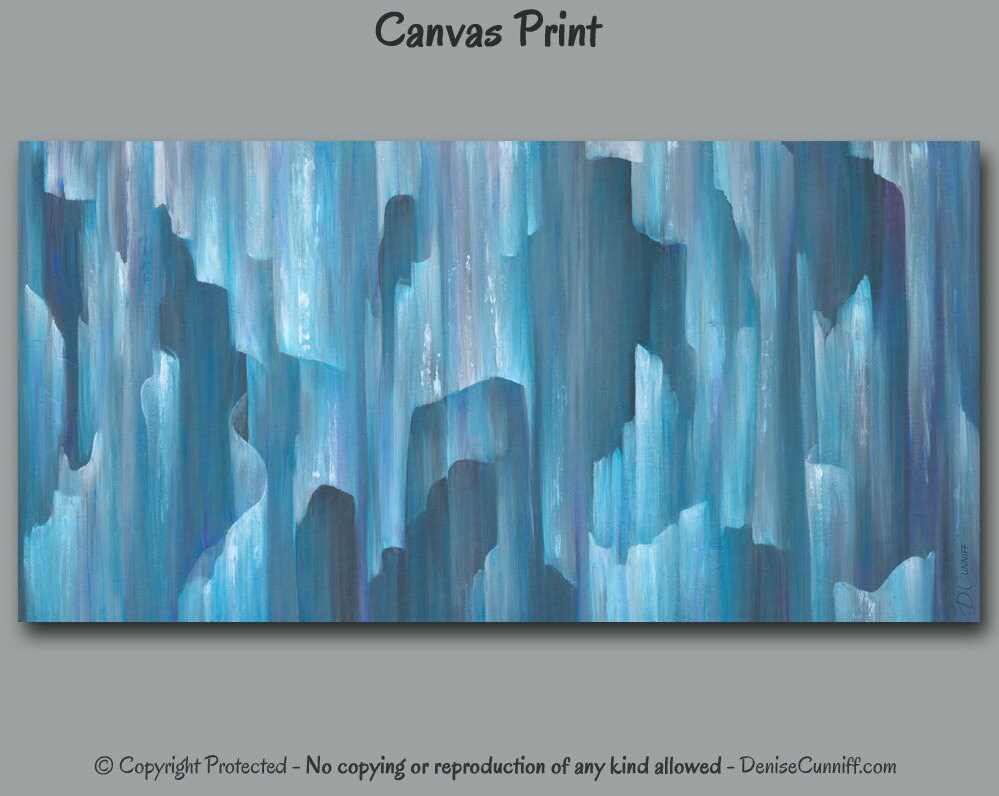 Best Teal Aqua Grey Blue Abstract Wall Art Wide Canvas Art Print This Month