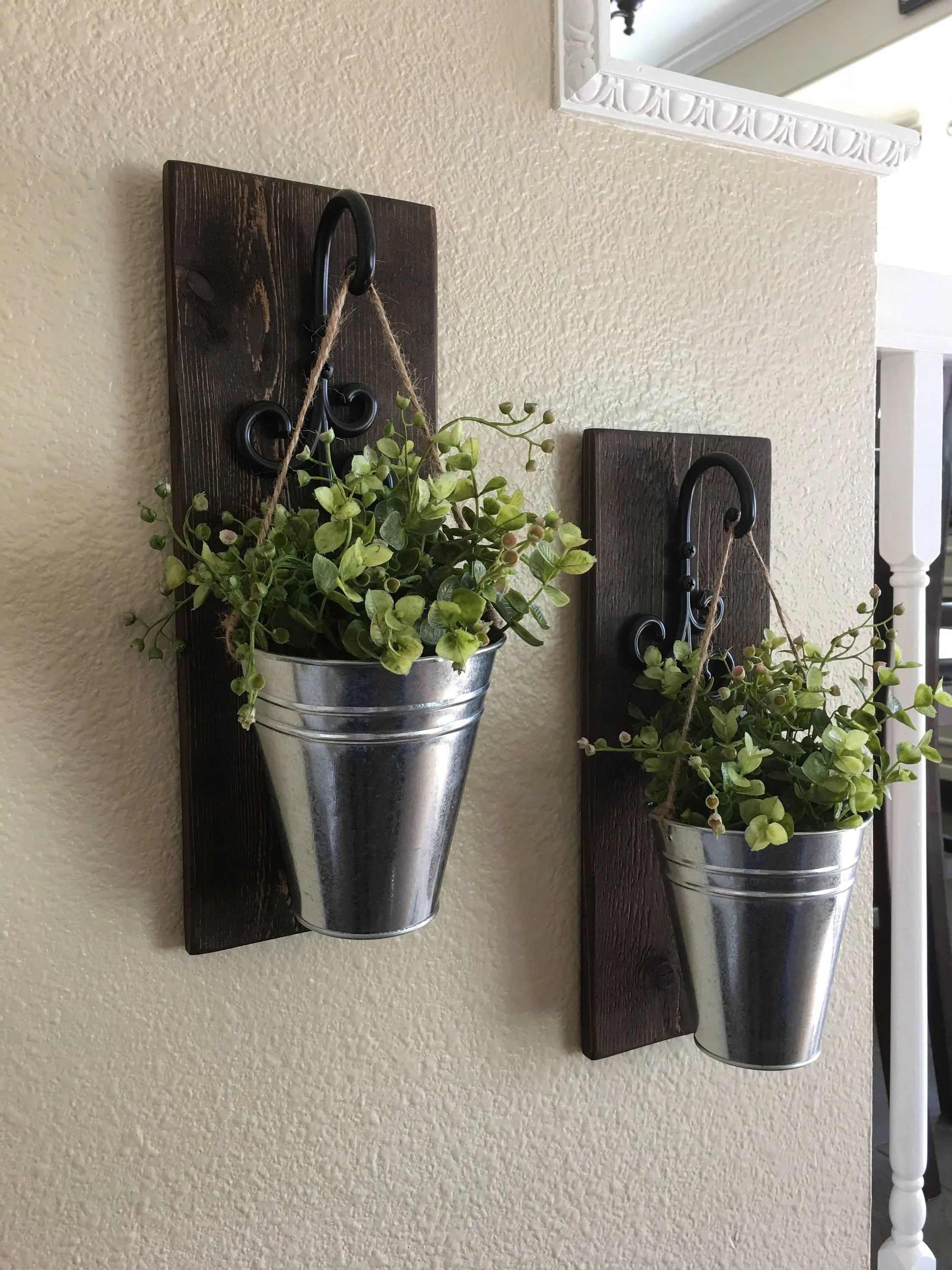 Best Galvanized Metal Decor Metal Wall Decor Sconce With Flowers This Month
