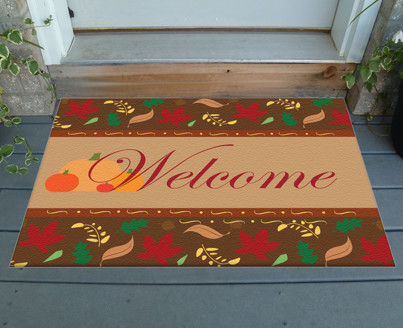 Best Decorative Fall Welcome Mat 36 X 24 Indoor Outdoor This Month