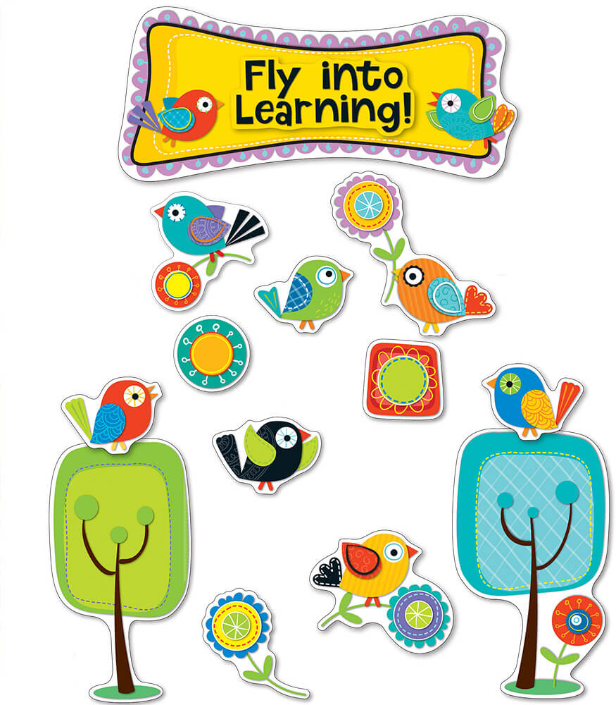 Best Boho Birds Fly Into Learning Bulletin Board Set This Month