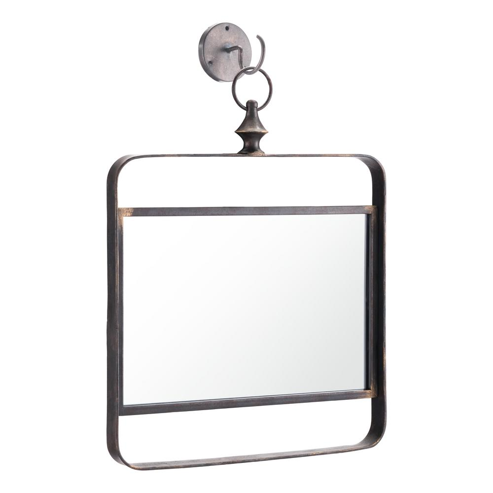 Best Zuo Square Black Decorative Mirror A11515 The Home Depot This Month