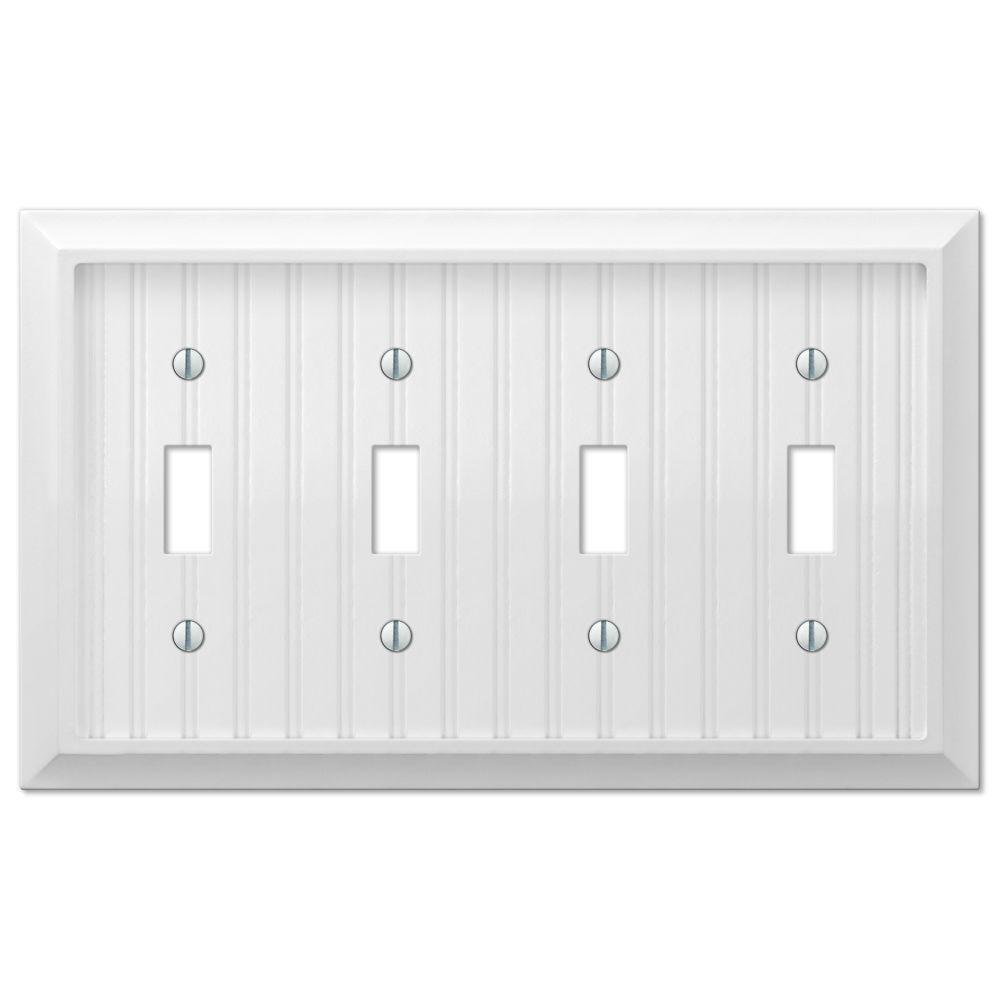 Best Cottage 4 Gang Toggle Wall Plate White 279T4W The Home This Month