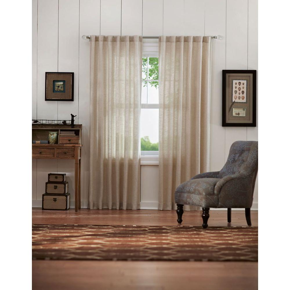 Best Home Decorators Collection Semi Opaque Taupe Faux Linen This Month