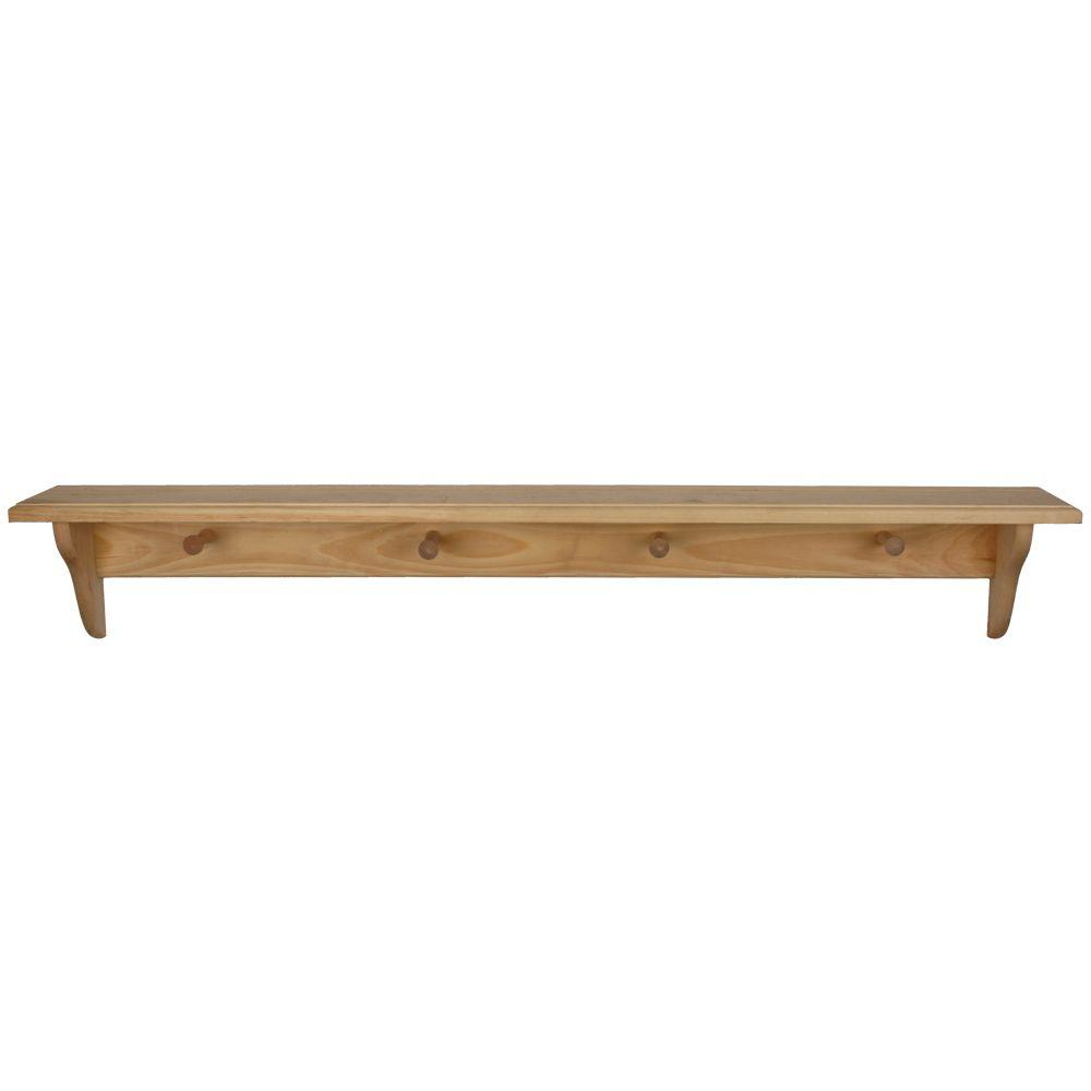Best Houseworks 46 In X 5 1 4 In Unfinished Wood Decor Shelf This Month