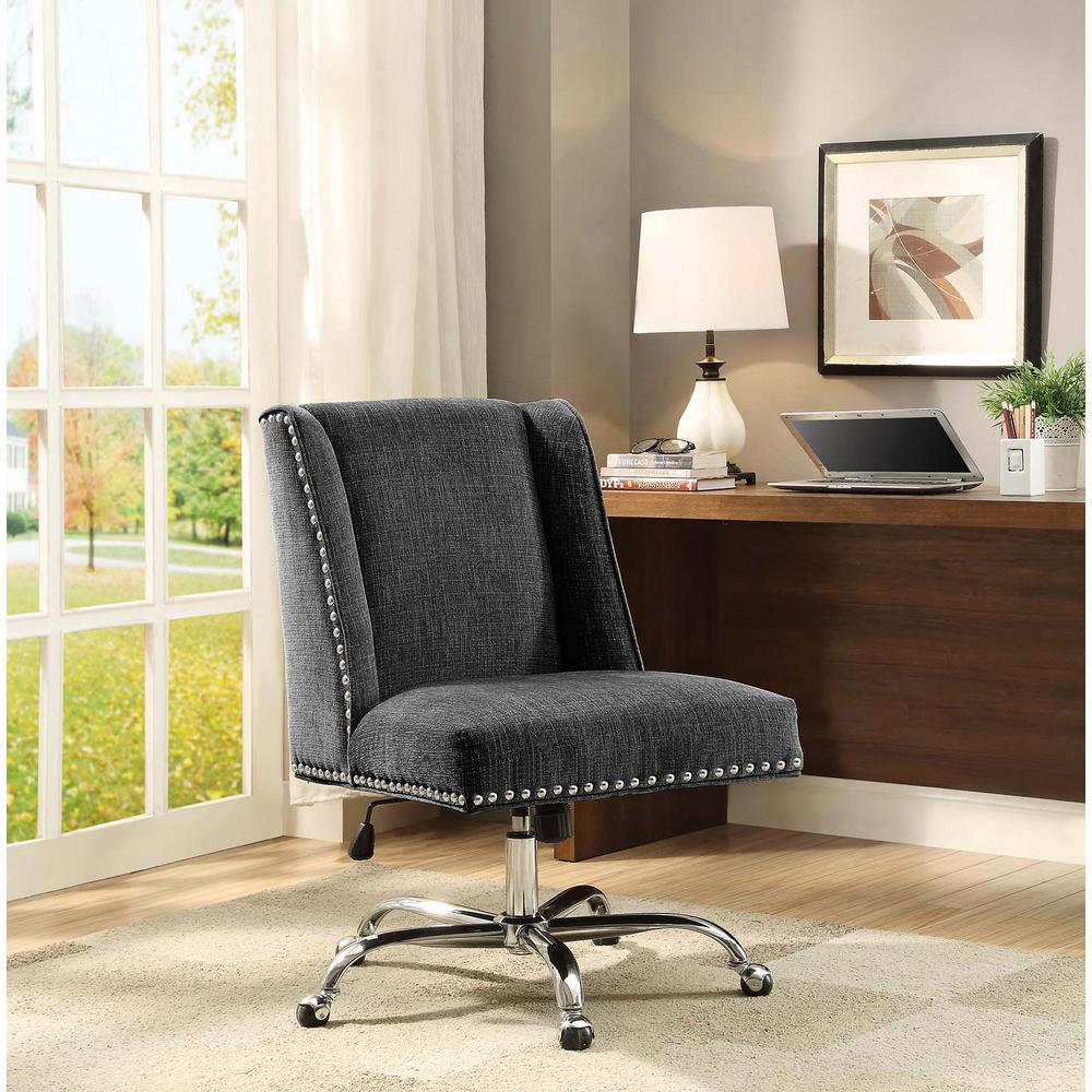 Best Linon Home Decor Draper Charcoal Microfiber Office Chair This Month